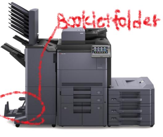 ブックレットフォルダーの位置の画像