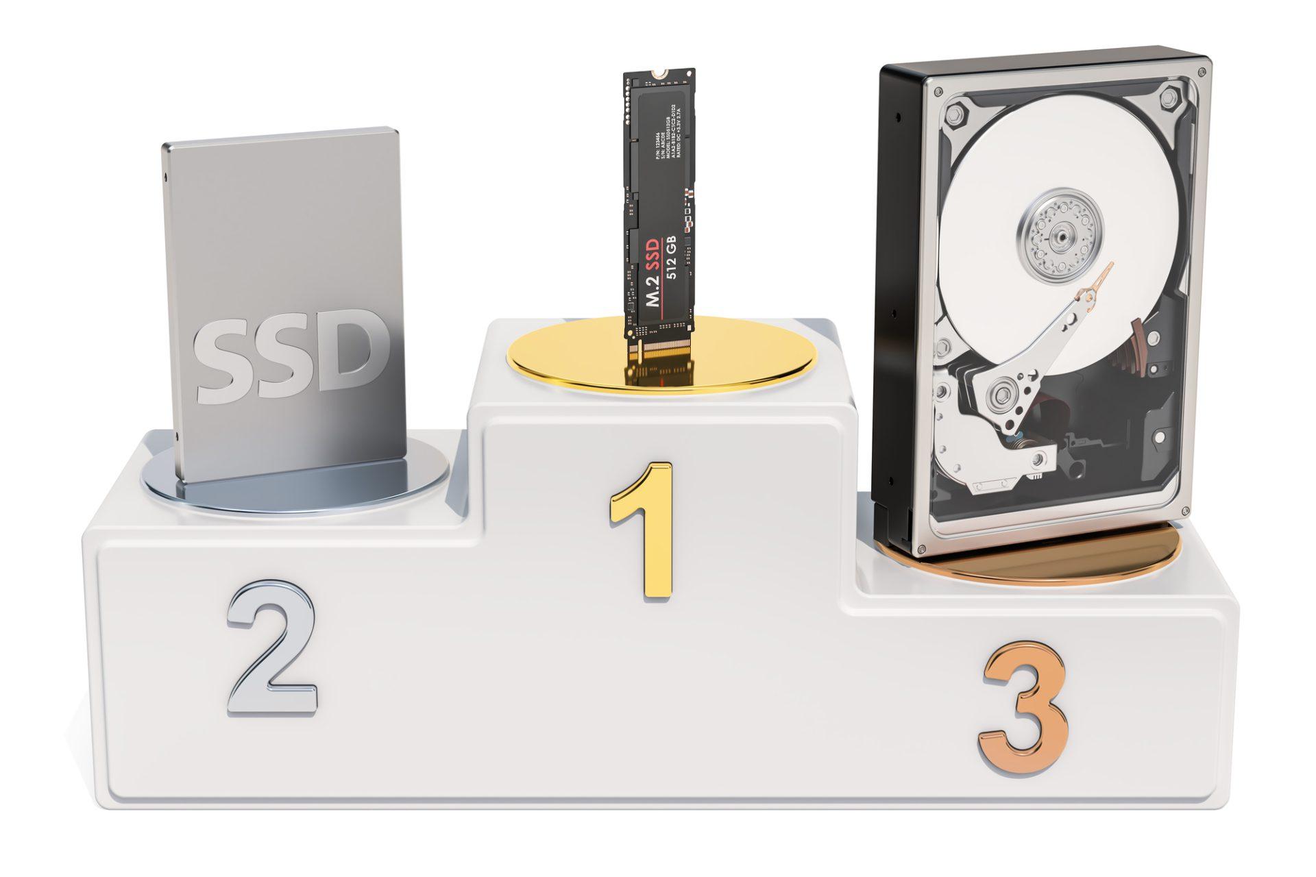 HDDとSSDと光デスク